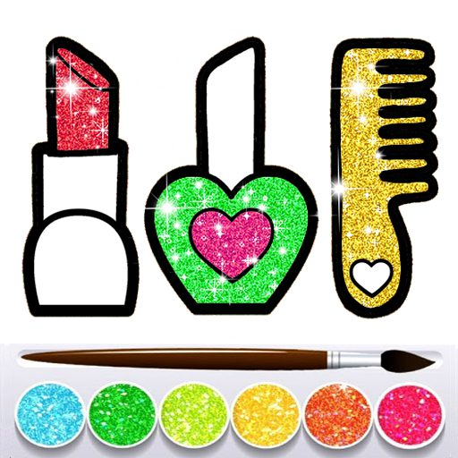 Glitter Beauty Accessories Coloring and drawing 9.1 APK MOD | Download Android